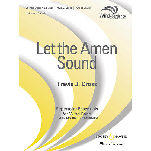 Boosey and Hawkes Let the Amen Sound (Score Only) Concert Band Level 5 Composed by Travis J. Cross thumbnail