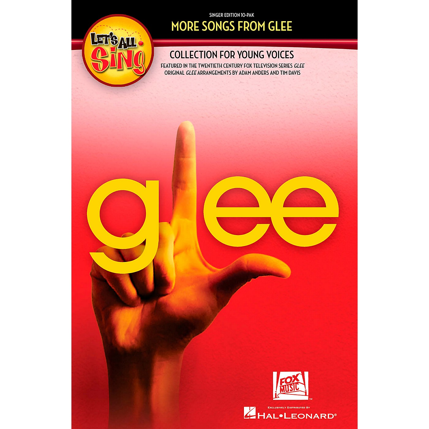 Hal Leonard Let's All Sing More Songs From Glee Collection for Young Voices thumbnail