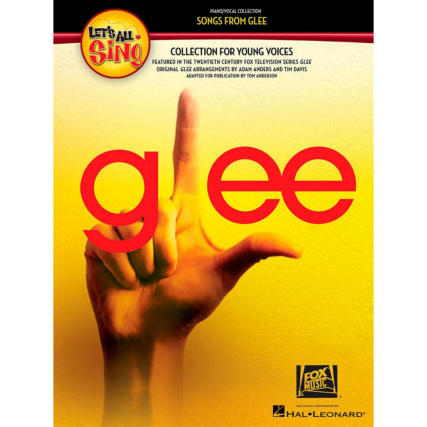 Hal Leonard Let's All Sing Songs From Glee - A Collection for Young Voices CD thumbnail