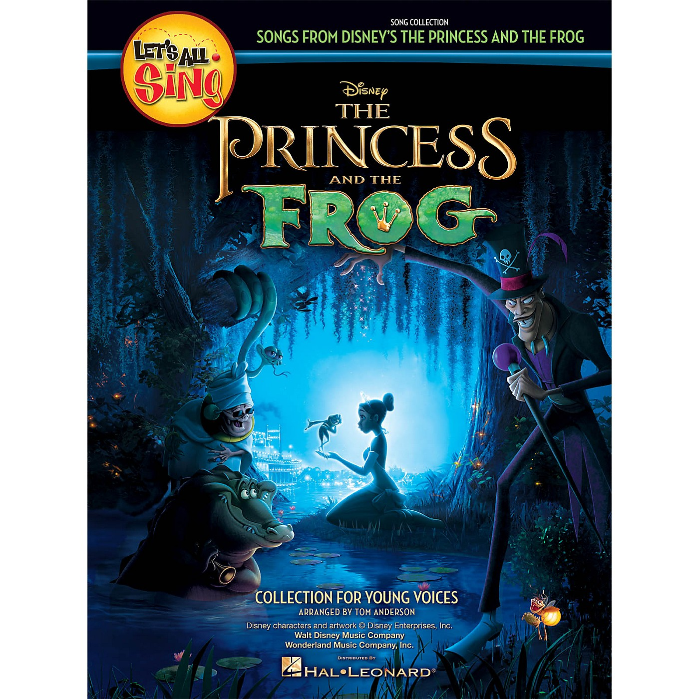 Hal Leonard Let's All Sing Songs from Disney's The Princess and the Frog Performance/Accompaniment CD by Tom Anderson thumbnail