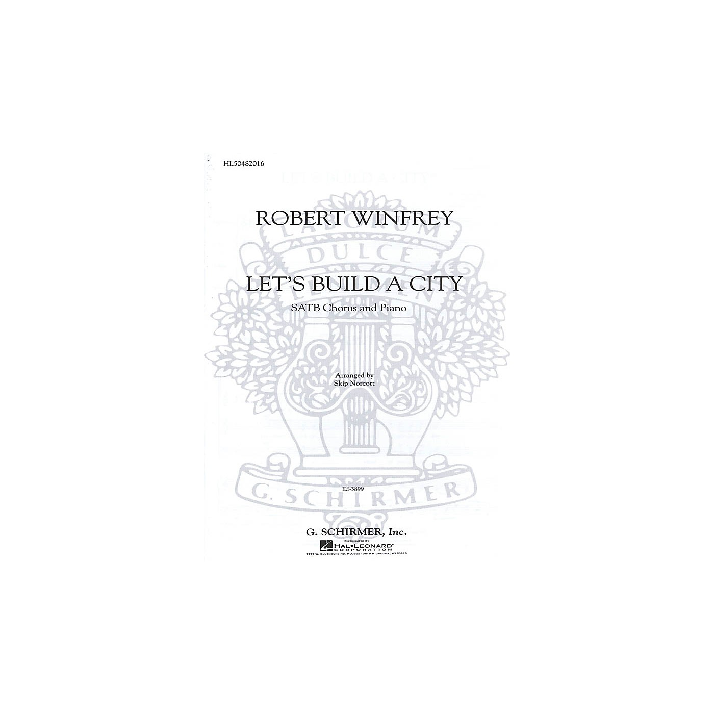 G. Schirmer Let's Build A City SATB composed by R Winfrey thumbnail