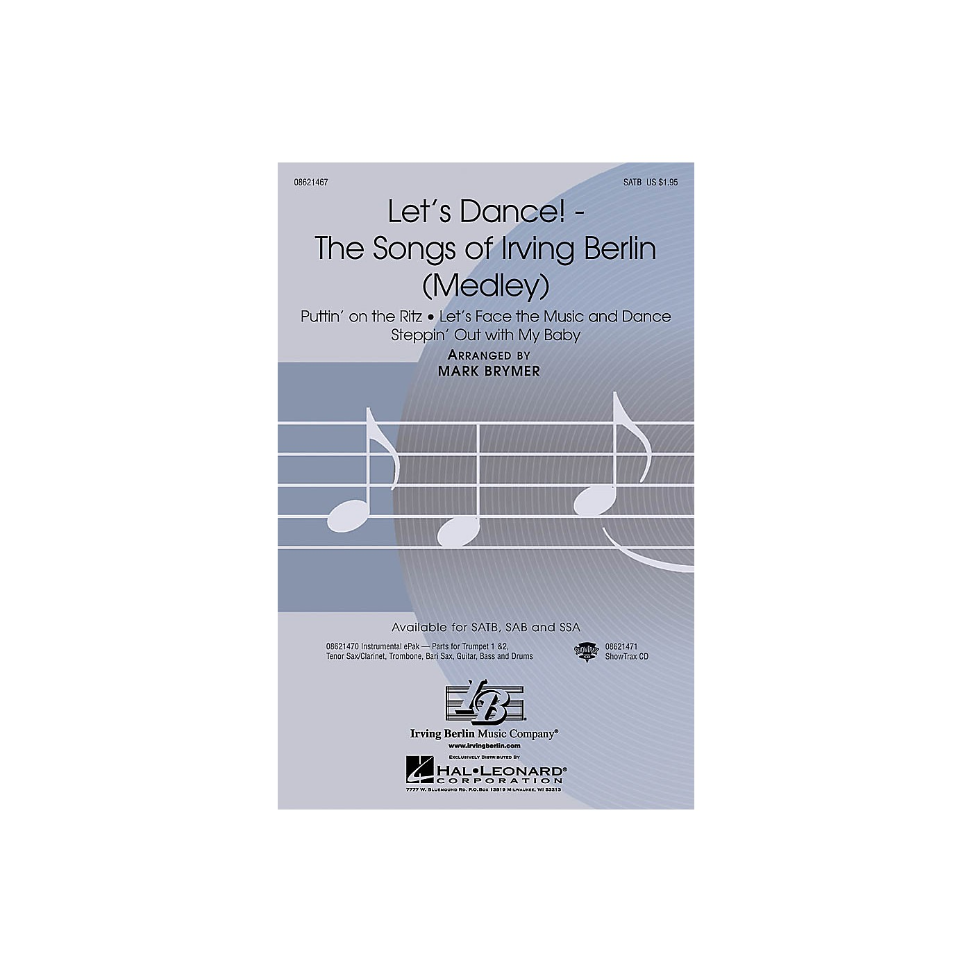 Hal Leonard Let's Dance! - The Songs of Irving Berlin (Medley) ShowTrax CD Arranged by Mark Brymer thumbnail