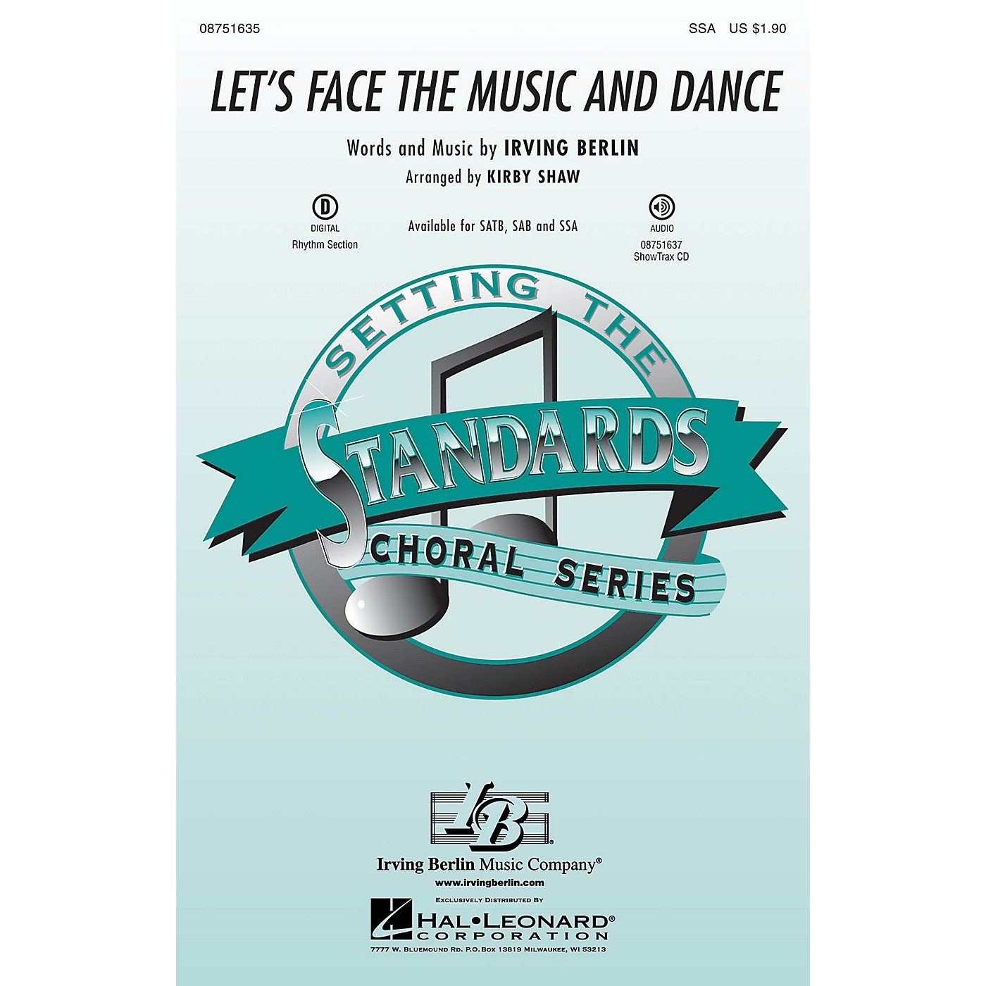 Hal Leonard Let's Face the Music and Dance SSA arranged by Kirby Shaw thumbnail