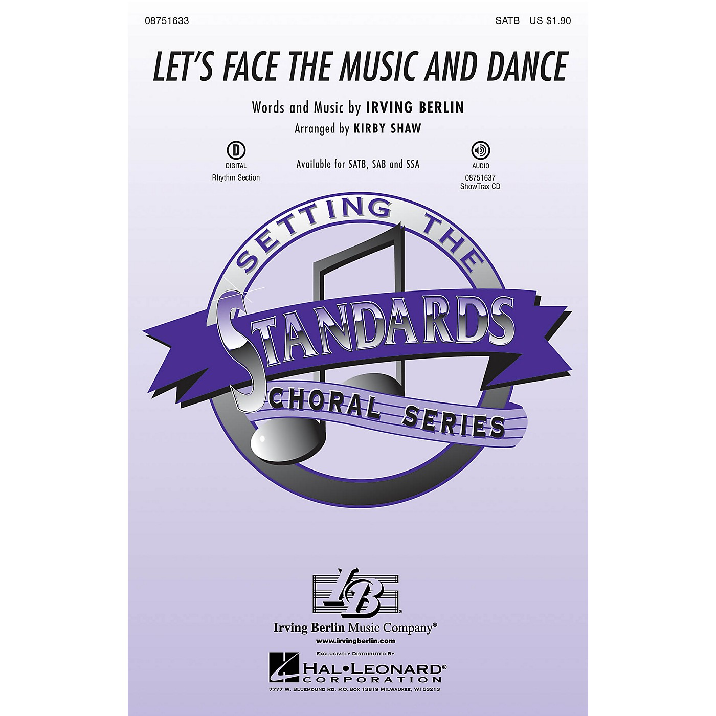 Hal Leonard Let's Face the Music and Dance ShowTrax CD Arranged by Kirby Shaw thumbnail