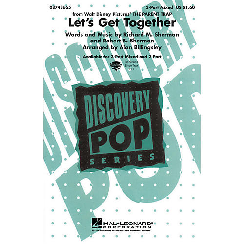 Hal Leonard Let's Get Together (from The Parent Trap) ShowTrax CD Arranged by Alan Billingsley thumbnail