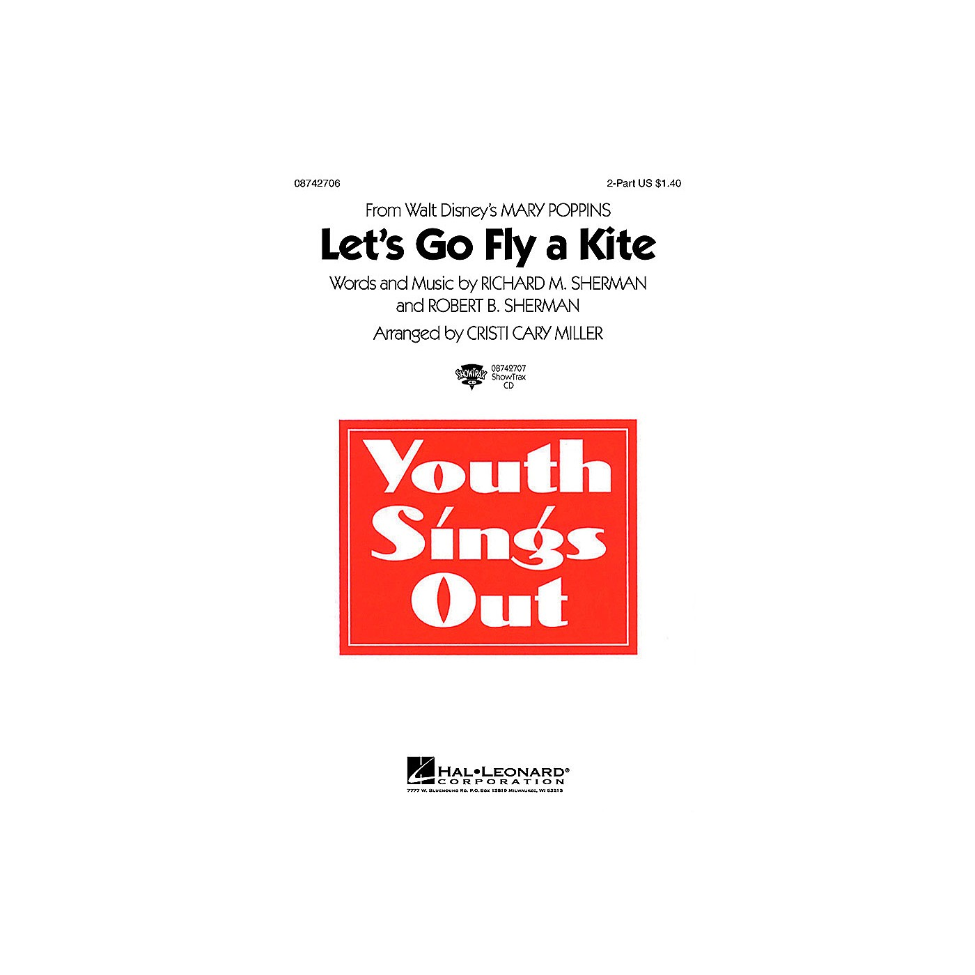 Hal Leonard Let's Go Fly a Kite (from Mary Poppins) 2-Part arranged by Cristi Cary Miller thumbnail