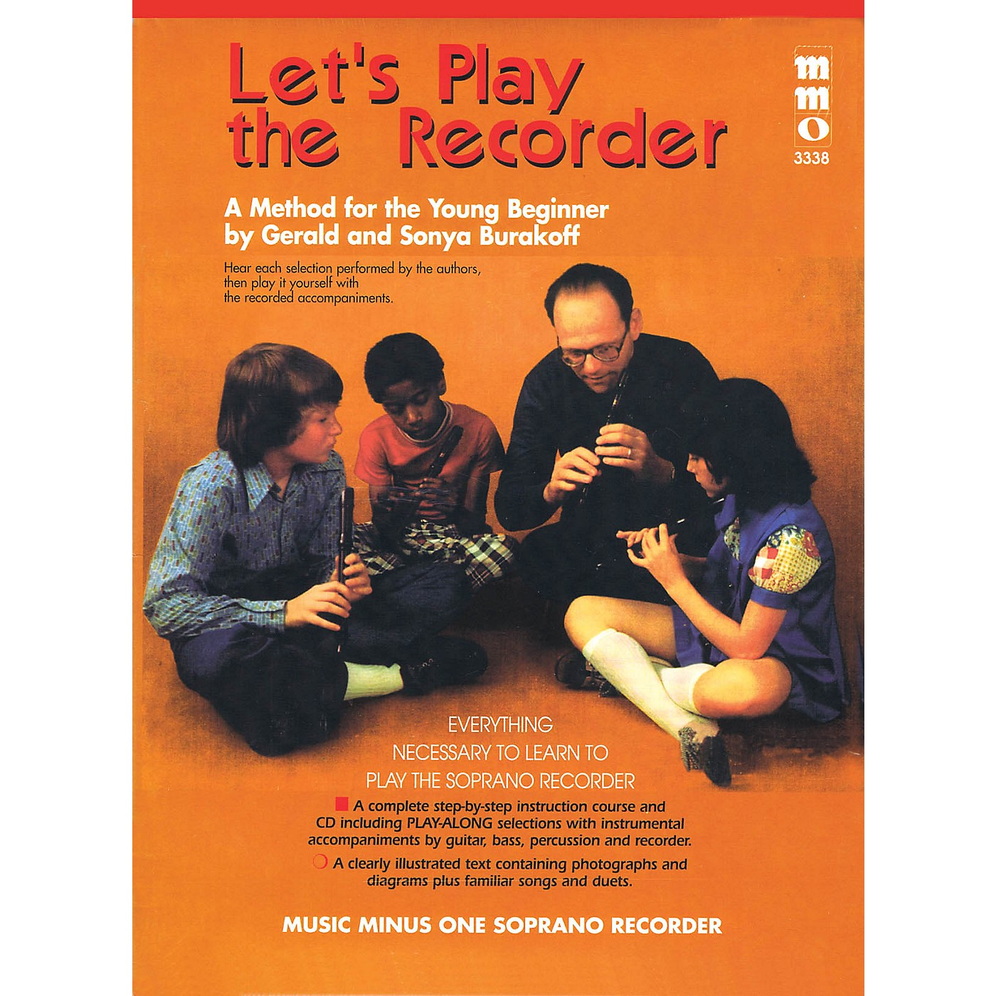 Music Minus One Let's Play the Recorder Music Minus One Series Softcover with CD Written by Gerald Burakoff thumbnail