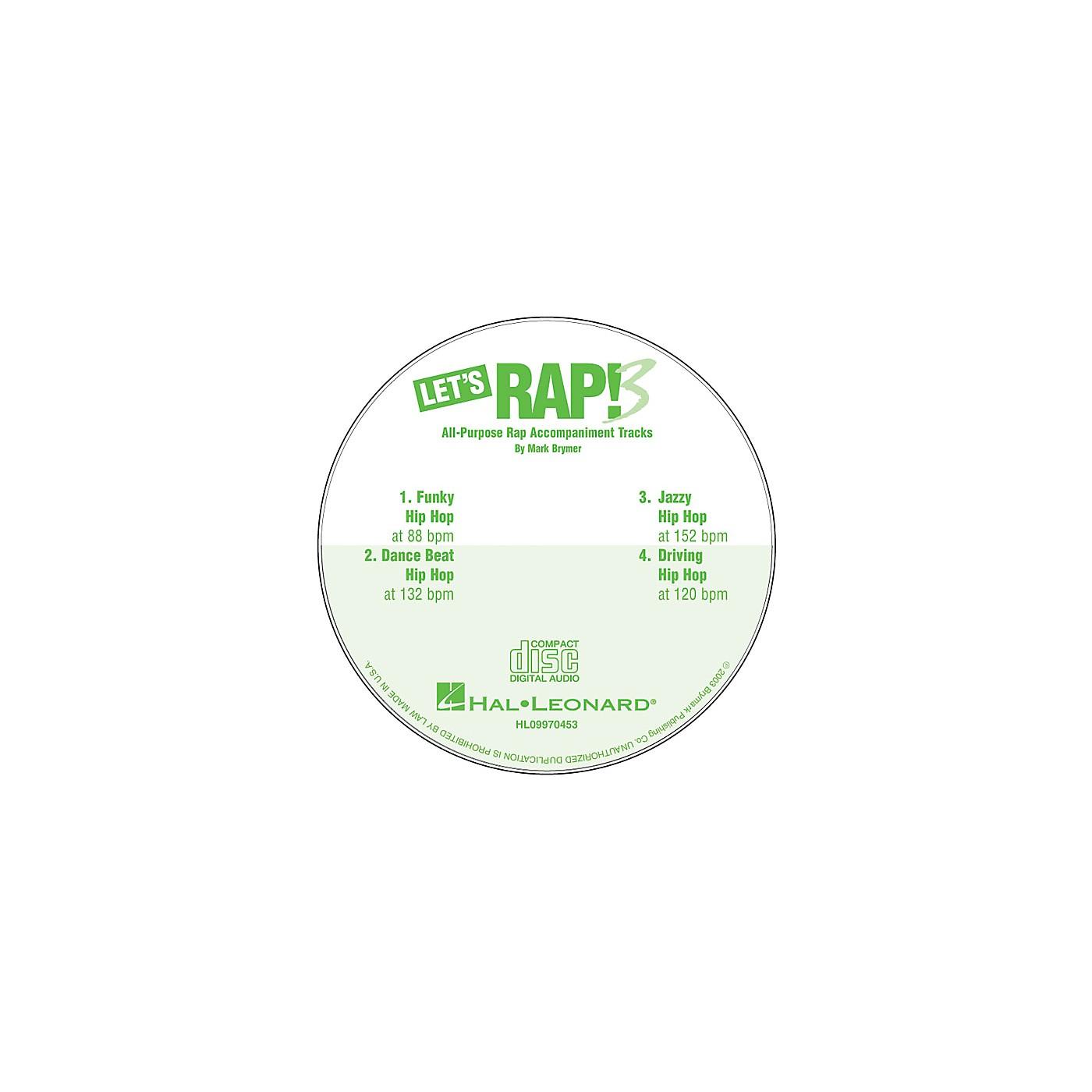 Hal Leonard Let's Rap! 3 (All-Purpose Rap Accompaniments) CD ACCOMP Composed by Mark Brymer thumbnail