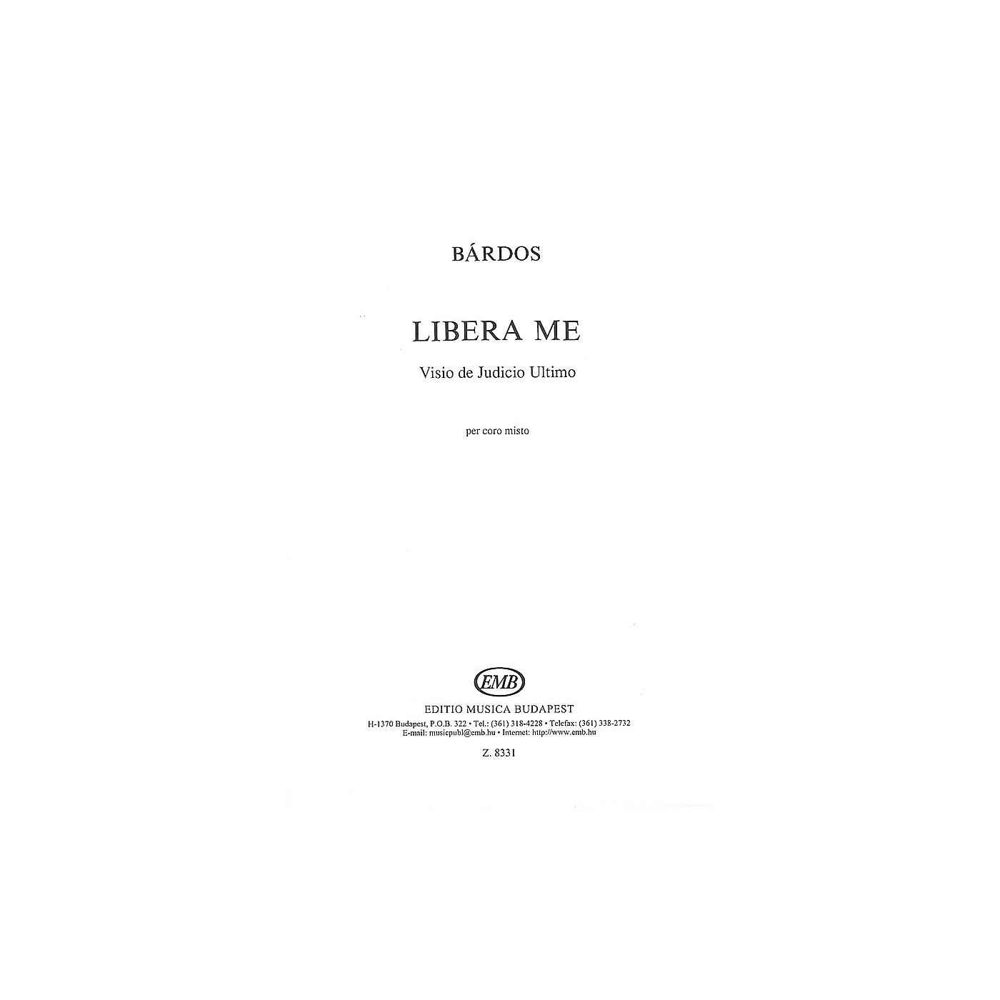 Editio Musica Budapest Libera Me SATB Composed by Lajos Bárdos thumbnail