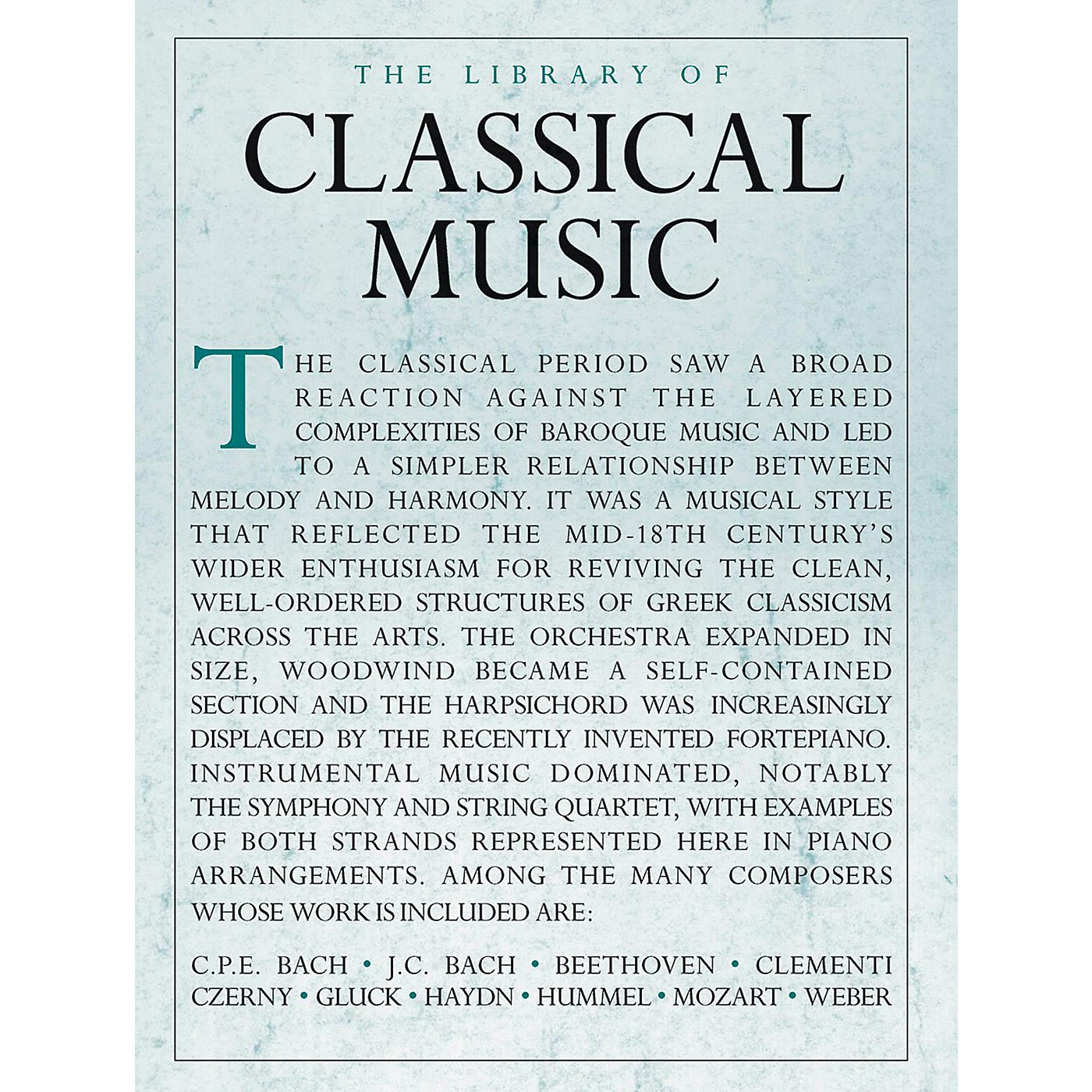 Music Sales Library Of Classical Music - Piano Solo thumbnail