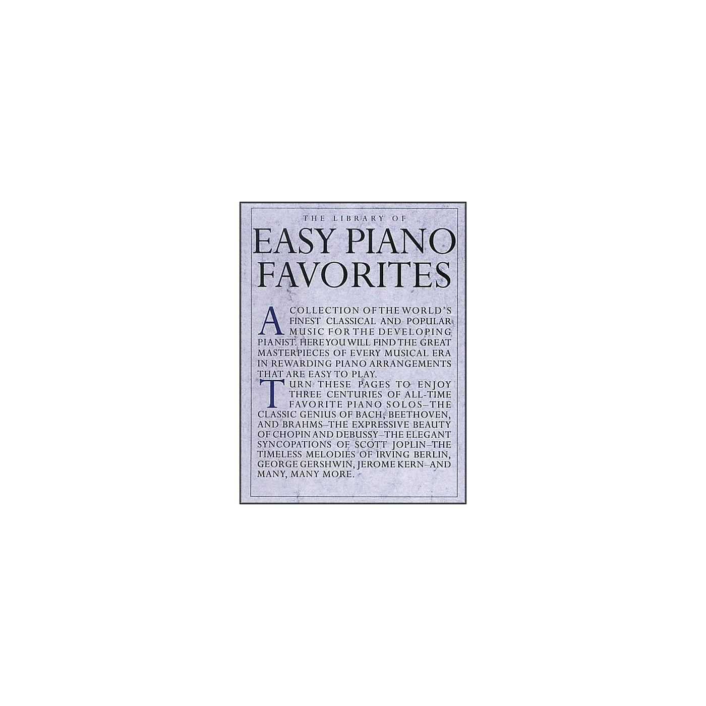 Music Sales Library Of Easy Piano Favorites thumbnail