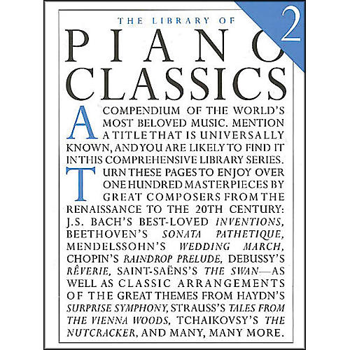 Music Sales Library Of Piano Classics 2 By Appleby thumbnail