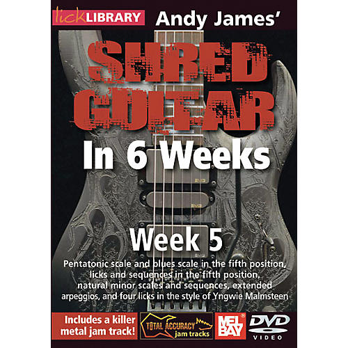 Mel Bay Lick Library Andy James' Shred Guitar in 6 Weeks DVD Guitar Course thumbnail
