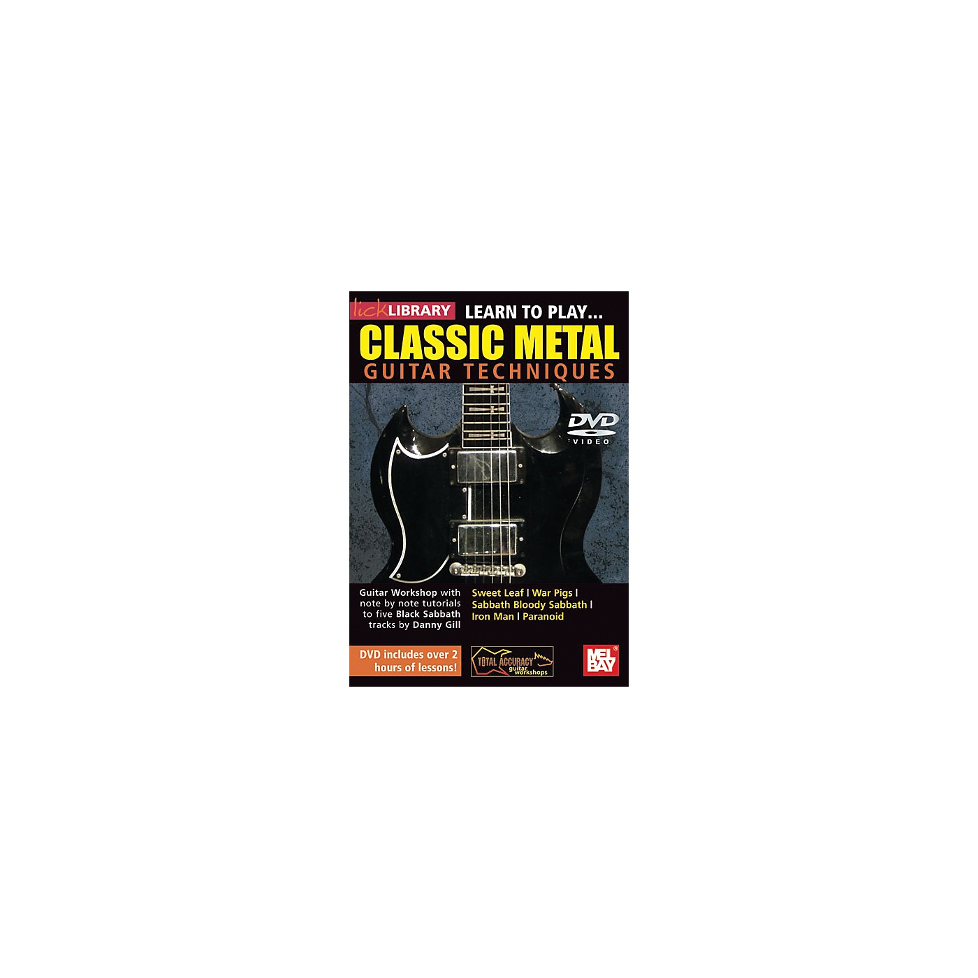 Mel Bay Lick Library Learn to Play Classic Metal Guitar Technique DVD thumbnail