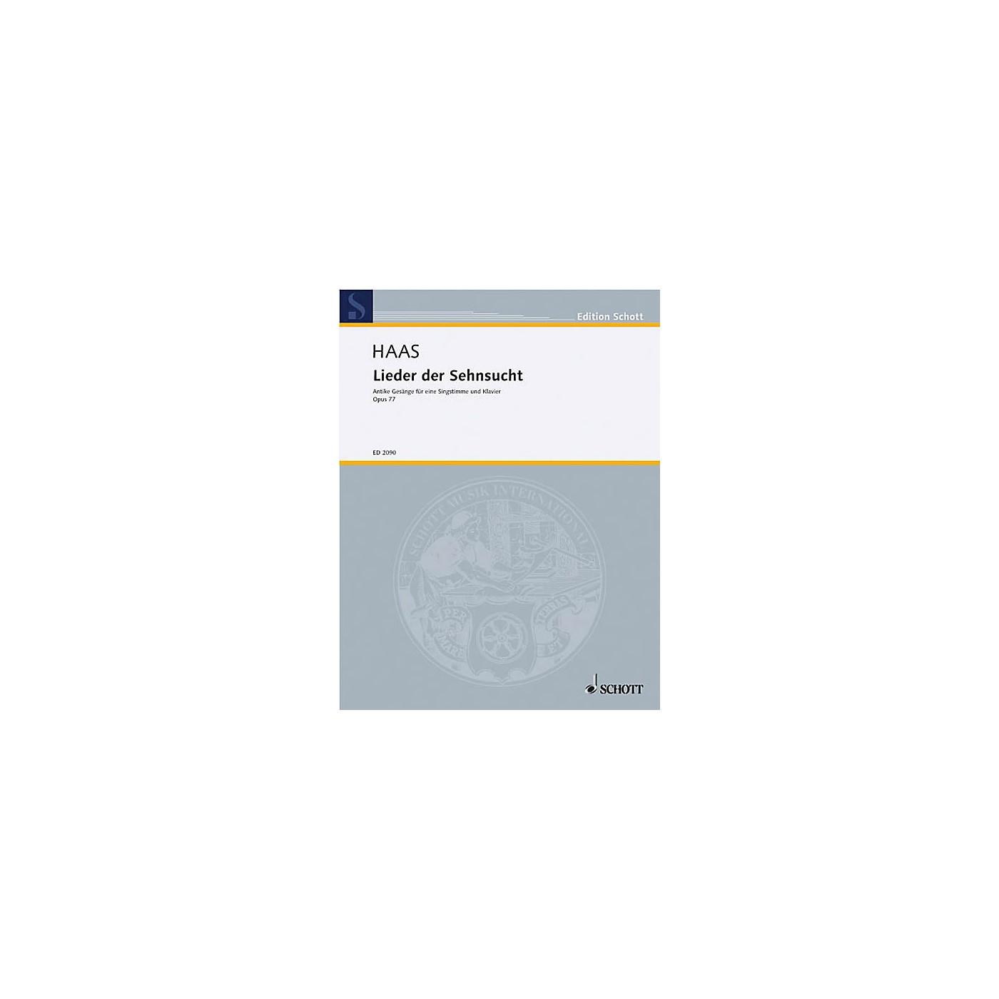 Schott Lieder Der Sehnsucht Op. 77 High Schott Series thumbnail