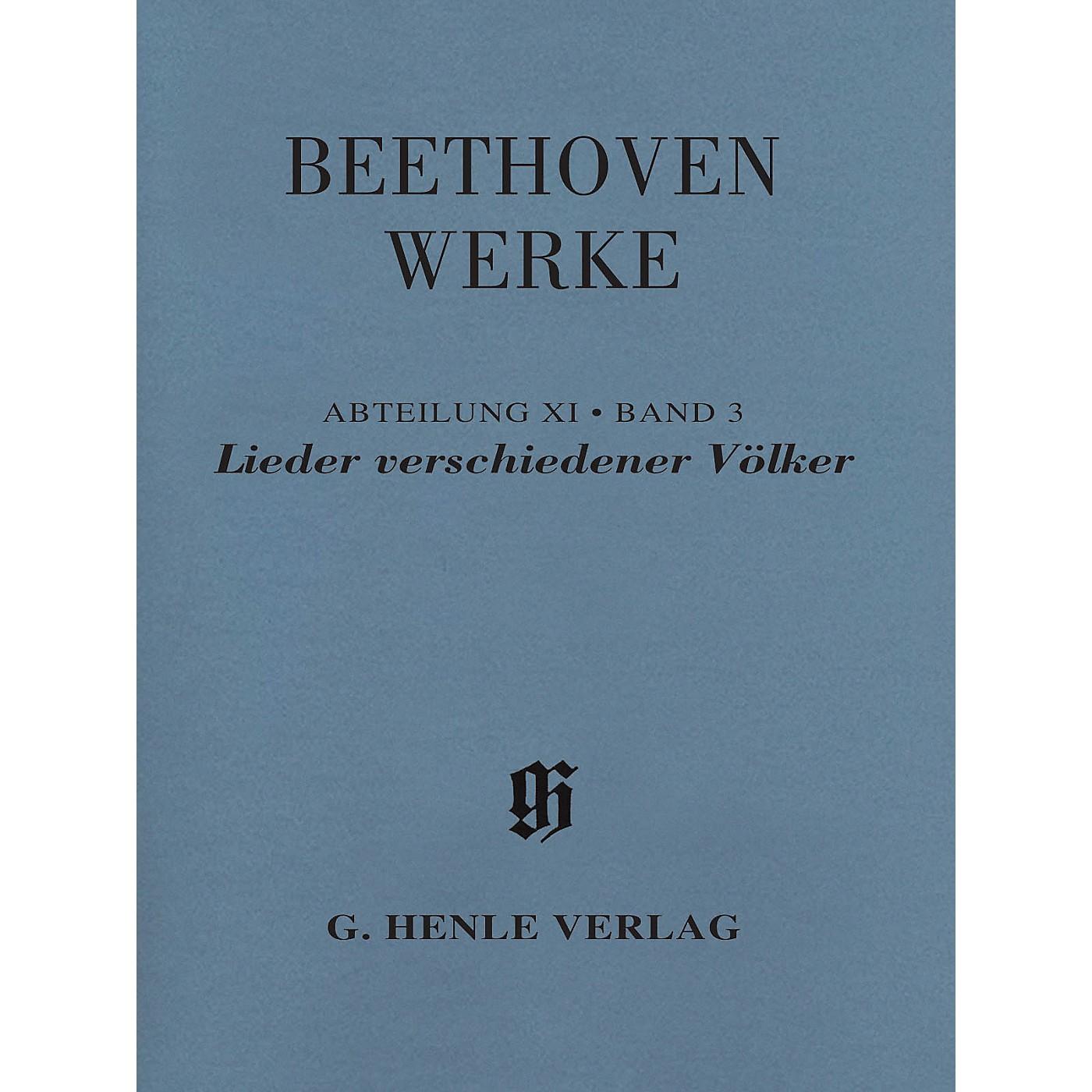G. Henle Verlag Lieder verschiedener Völker Henle Edition Softcover by Beethoven Edited by Susanne Cox thumbnail