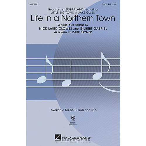 Hal Leonard Life in a Northern Town SAB by Sugarland Arranged by Mark Brymer thumbnail