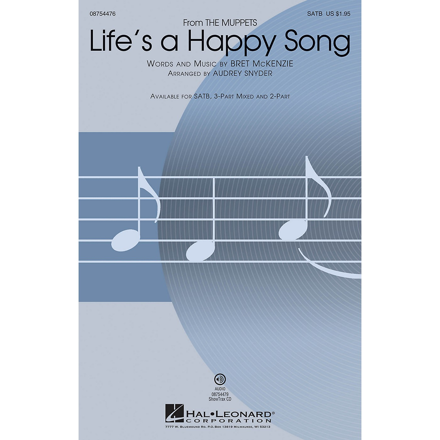 Hal Leonard Life's a Happy Song (from The Muppets) 3-Part Mixed by The Muppets Arranged by Audrey Snyder thumbnail
