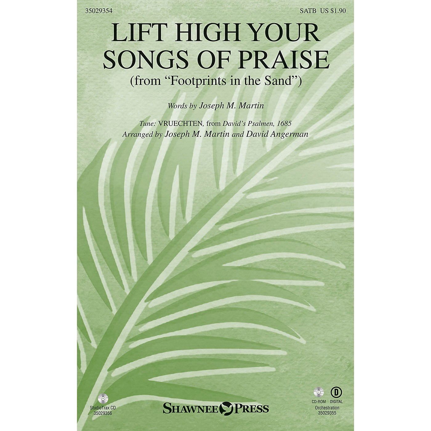 Shawnee Press Lift High Your Songs of Praise (from Footprints in the Sand) SATB composed by David Angerman thumbnail