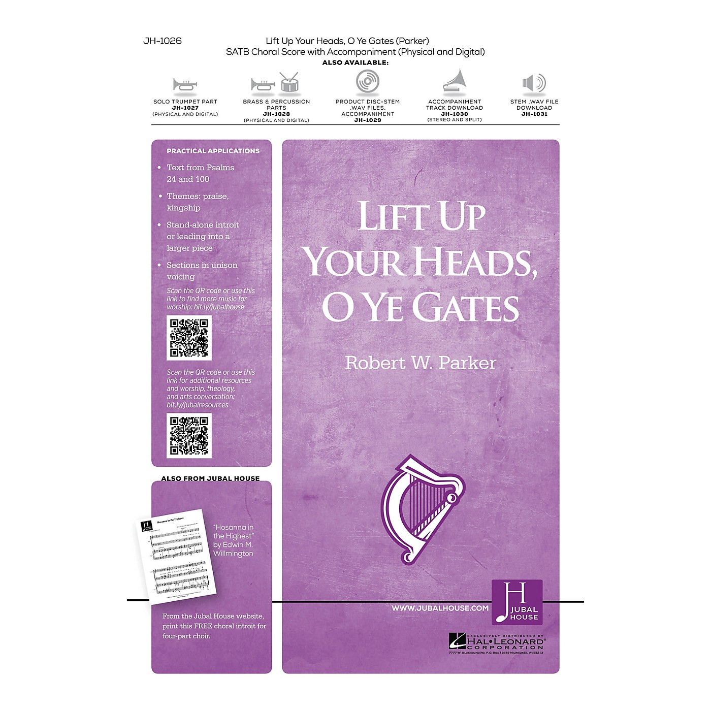 Jubal House Publications Lift Up Your Heads, O Ye Gates Accompaniment CD Composed by Robert W. Parker thumbnail