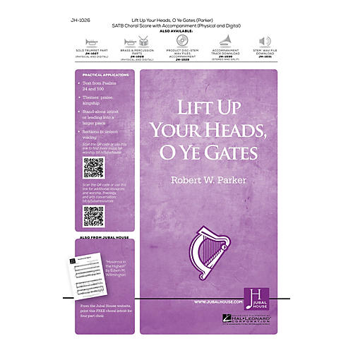 Jubal House Publications Lift Up Your Heads, O Ye Gates BRASS/PERCUSSION PARTS Composed by Robert W. Parker thumbnail