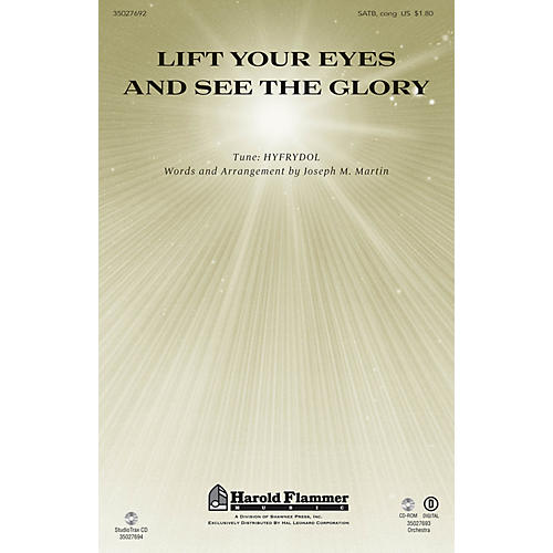 Shawnee Press Lift Your Eyes and See the Glory SATB composed by Joseph M. Martin thumbnail