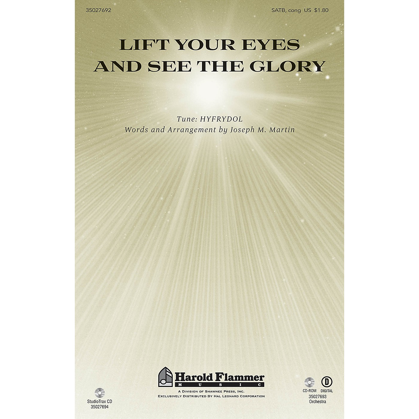 Shawnee Press Lift Your Eyes and See the Glory Studiotrax CD Composed by Joseph M. Martin thumbnail
