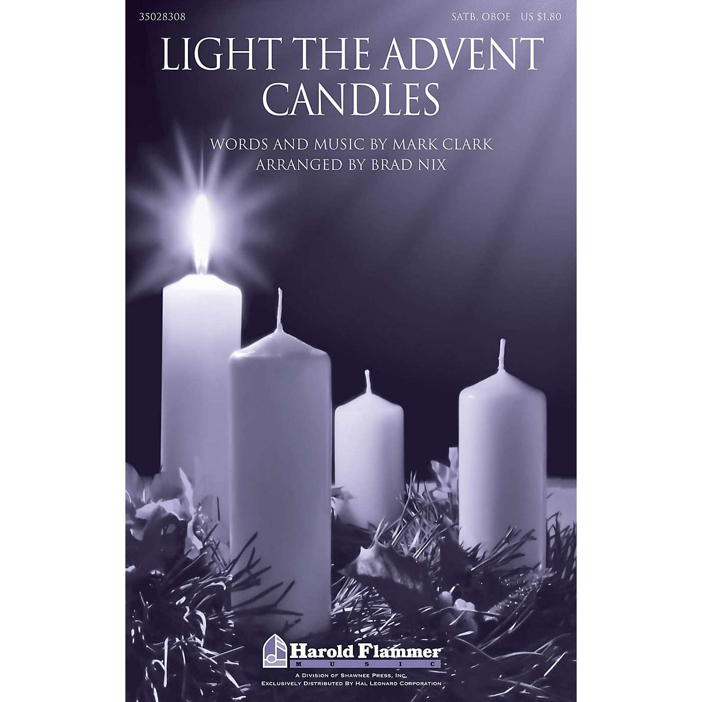 Shawnee Press Light the Advent Candles SATB AND OBOE arranged by Brad Nix thumbnail