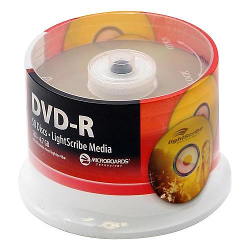 Microboards LightScribe Recordable/Printable DVD-R 16X thumbnail