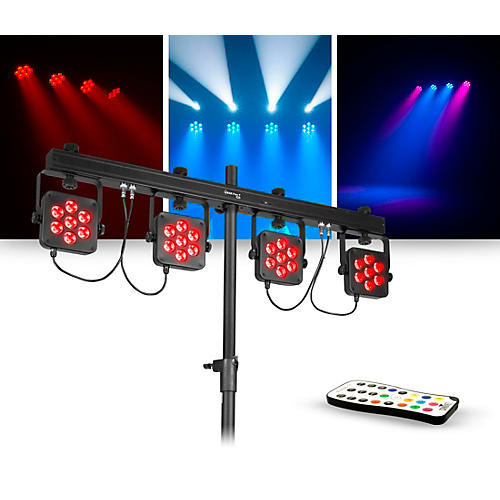 CHAUVET DJ Lighting Package with 4BAR Flex T USB RGB LED Wash Light Effect and IRC 6 Controller thumbnail