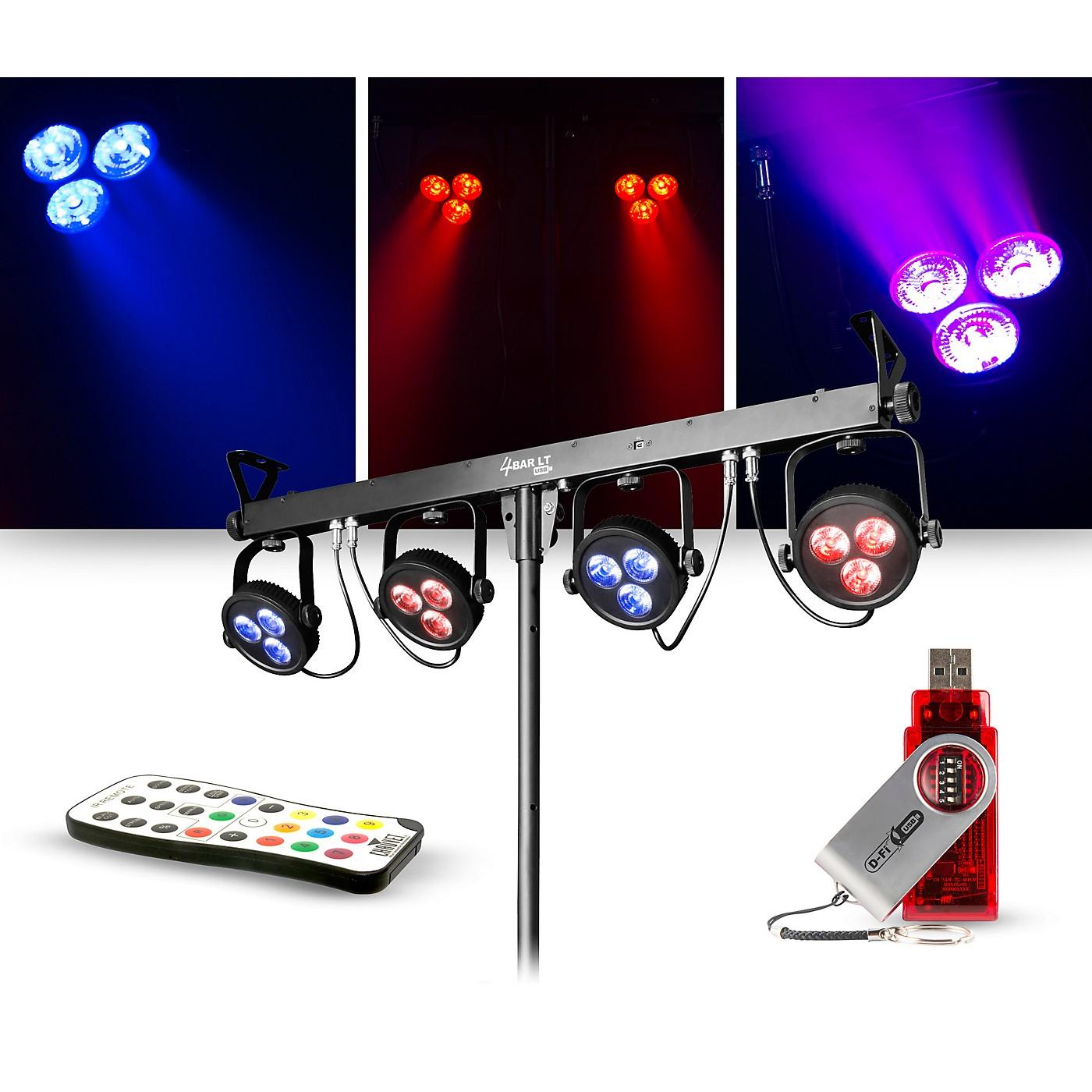 CHAUVET DJ Lighting Package with 4BAR LT USB RGB LED Effect Light, D-Fi USB Wireless Transmitter and IRC-6 Remote thumbnail