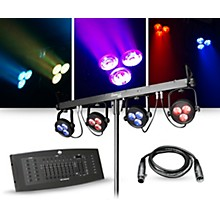 CHAUVET DJ Lighting Package with 4BAR LT USB RGB LED Fixture and DMX Operator Controller