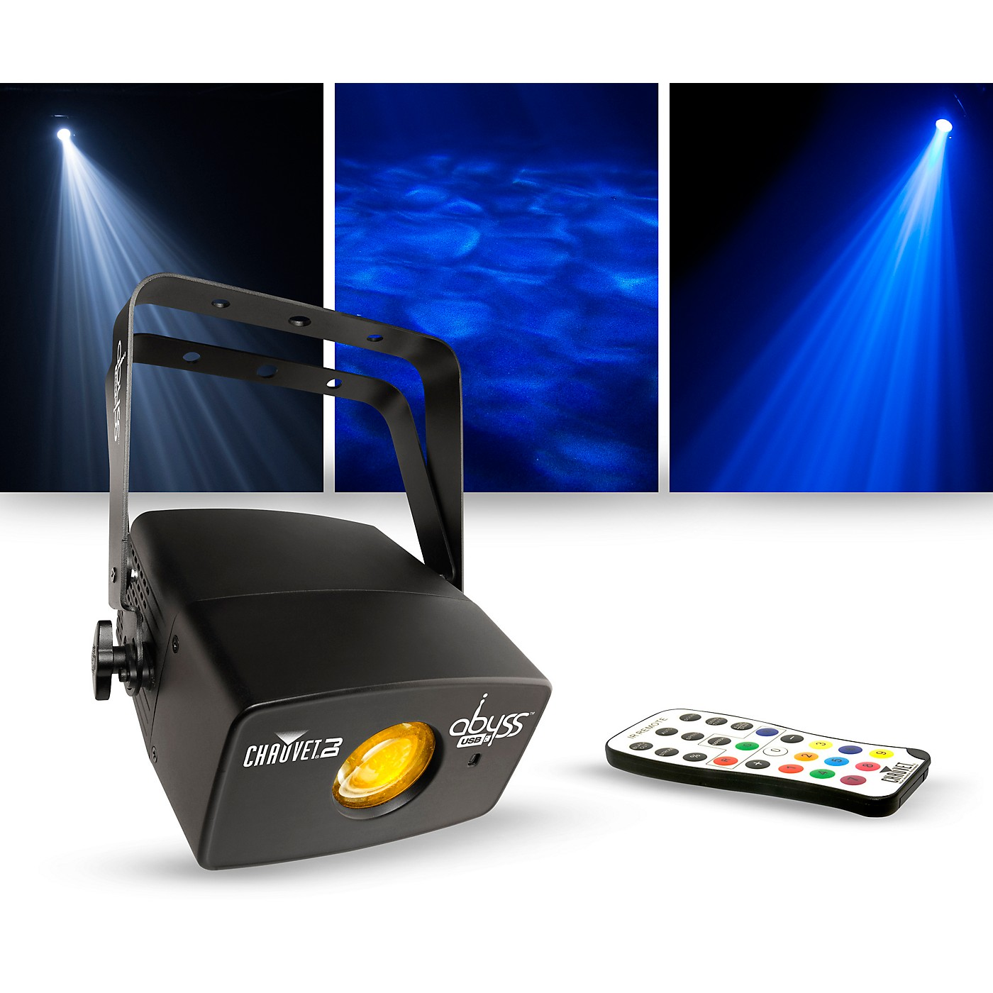 CHAUVET DJ Lighting Package with Abyss USB Multicolored Water Effect and IRC-6 Controller thumbnail
