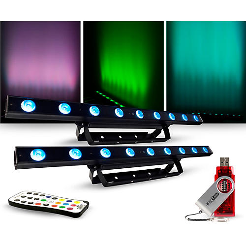 CHAUVET DJ Lighting Package with COLORband LED Effect Light, IRC-6 and D-Fi Controllers thumbnail
