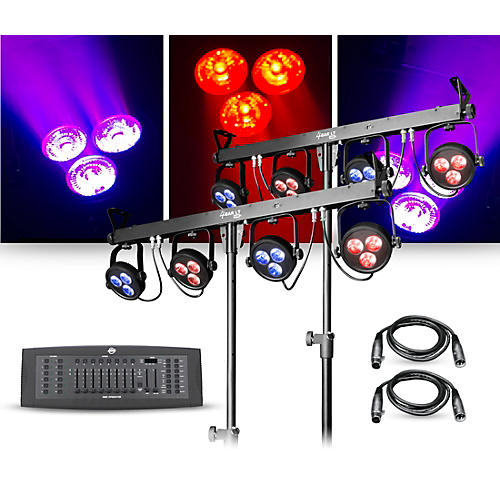 CHAUVET DJ Lighting Package with Two 4BAR LT USB RGB LED Fixtures and DMX Operator Controller thumbnail