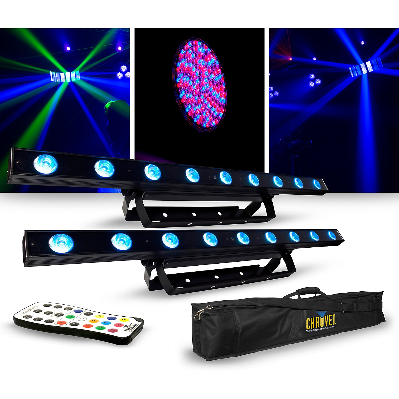 CHAUVET DJ Lighting Package with Two COLORband LED Effect Lights, IRC-6 and D-Fi Controllers thumbnail