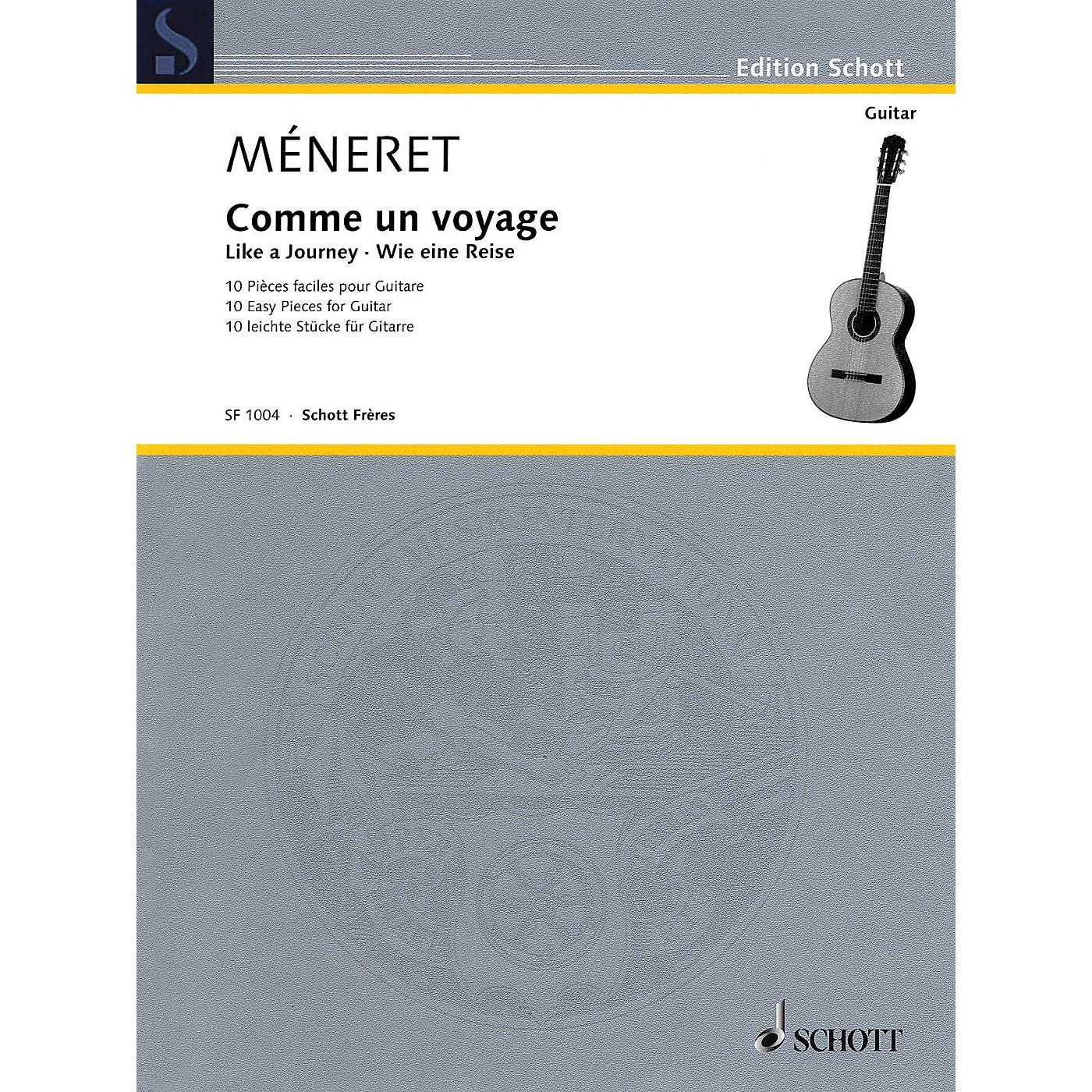 Schott Like a Journey (Comme un voyage) (10 Easy Pieces for Guitar) Schott Series Softcover by Laurent Méneret thumbnail