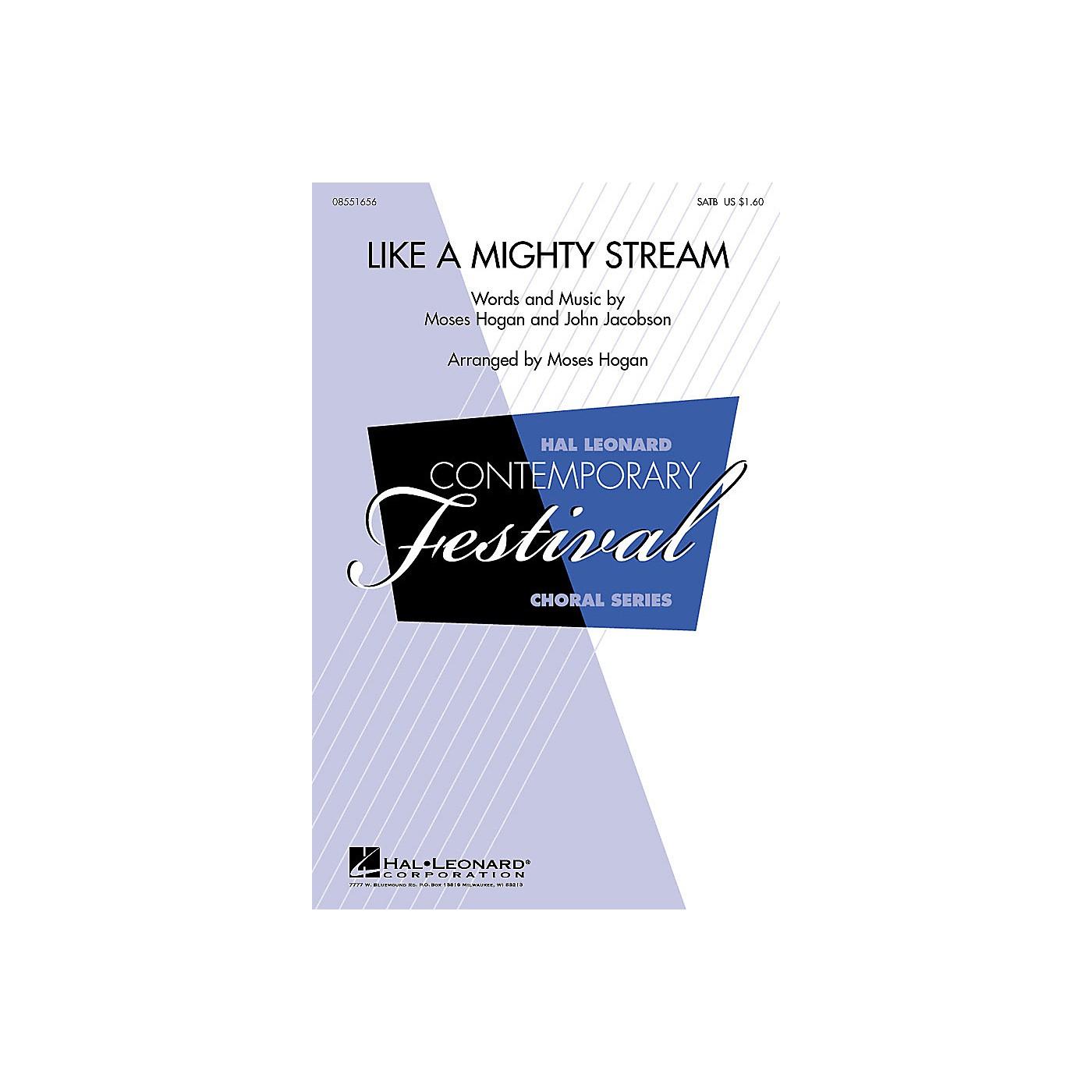 Hal Leonard Like a Mighty Stream SATB Arranged by Moses Hogan thumbnail