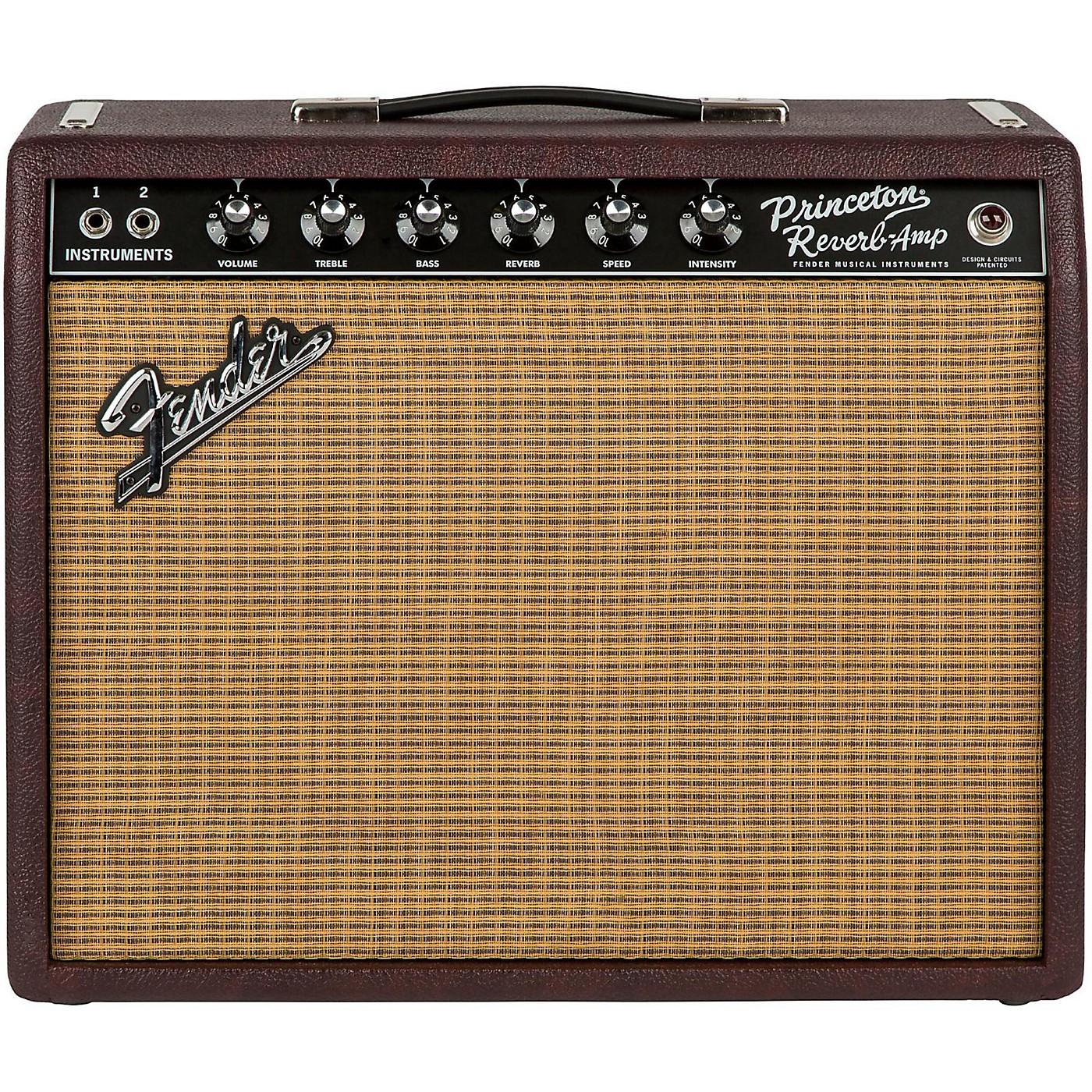 Fender Limited-Edition '65 Princeton Reverb 12W 1x12 Tube Guitar Combo Amp Bordeaux Reserve thumbnail