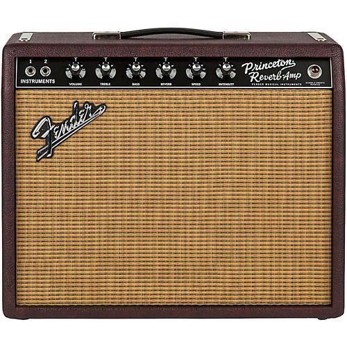 Fender Limited Edition '65 Princeton Reverb 15W 1x12 Tube Guitar Combo Amp Bordeaux Reserve thumbnail