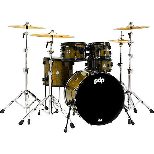 PDP by DW Limited Edition Concept Maple Shell Pack in Olive Stain Lacquer with Black Hardware thumbnail