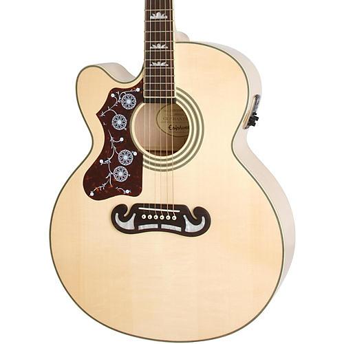 epiphone limited edition ej 200sce left handed acoustic electric guitar woodwind brasswind. Black Bedroom Furniture Sets. Home Design Ideas