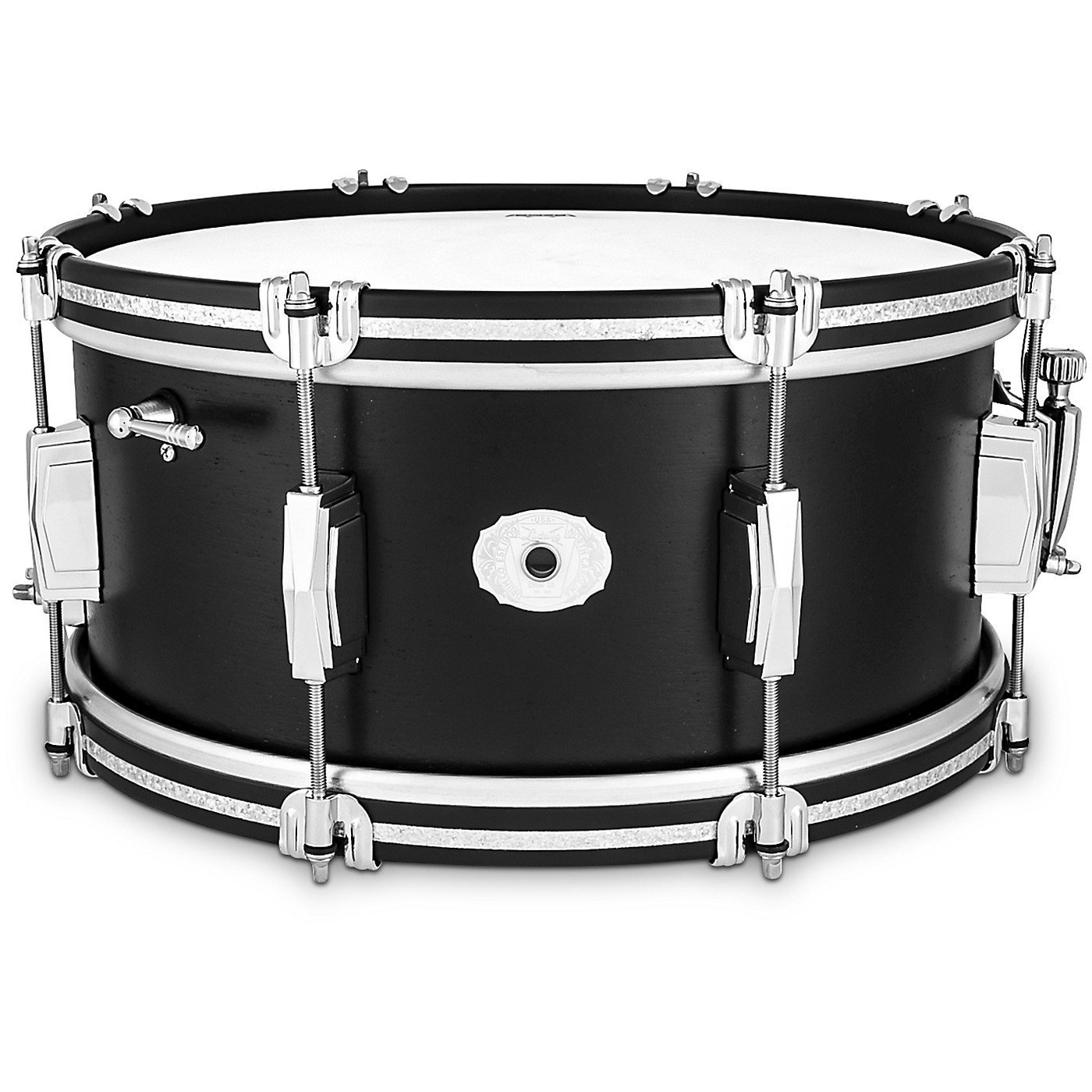 Ludwig Limited Edition Legacy Mahogany 14x6.5 Snare Drum- Black Cat thumbnail