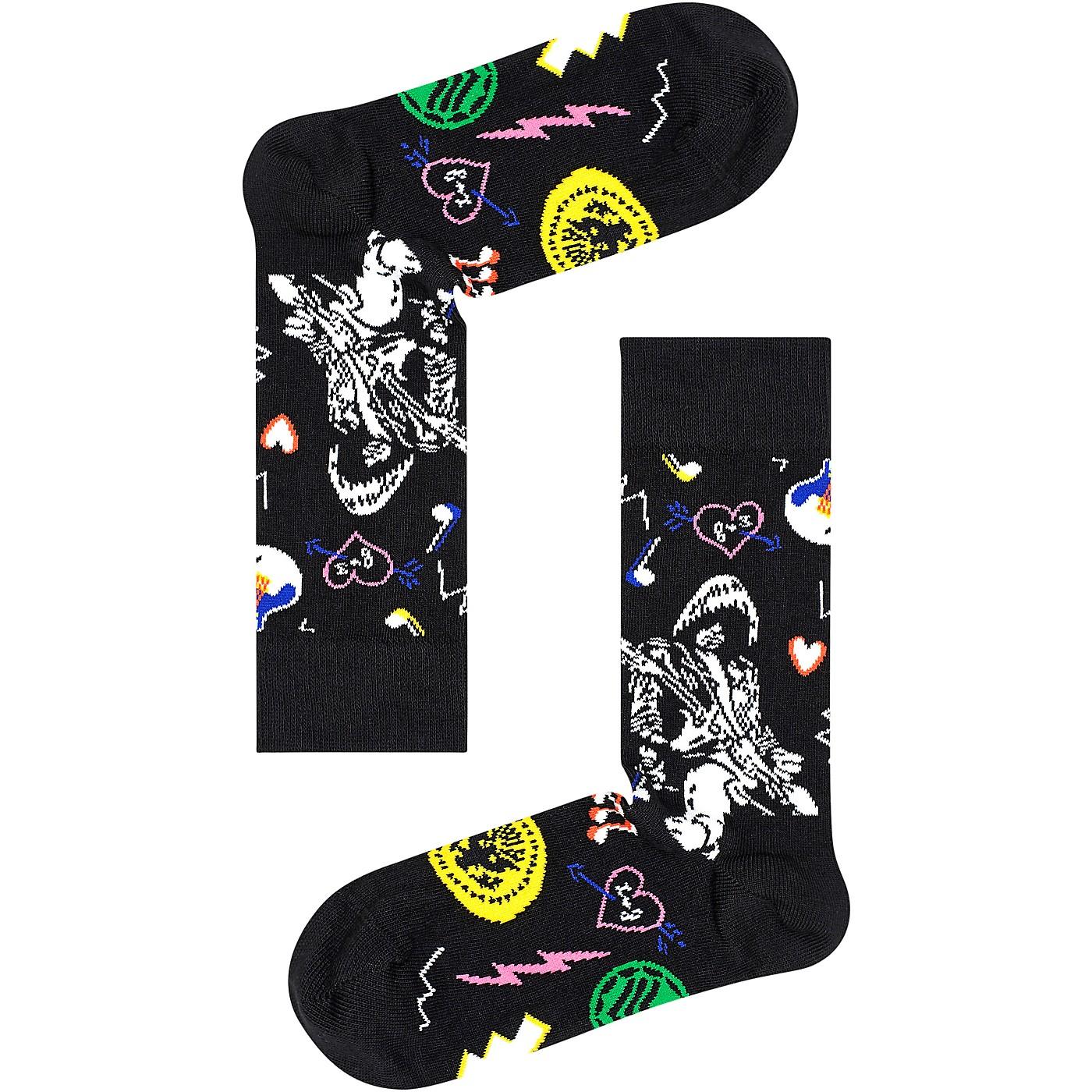 Happy Socks Linda and Johnny Black Guitar Socks thumbnail