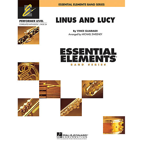 Hal Leonard Linus and Lucy Concert Band Level .5 to 1 Arranged by Michael Sweeney thumbnail