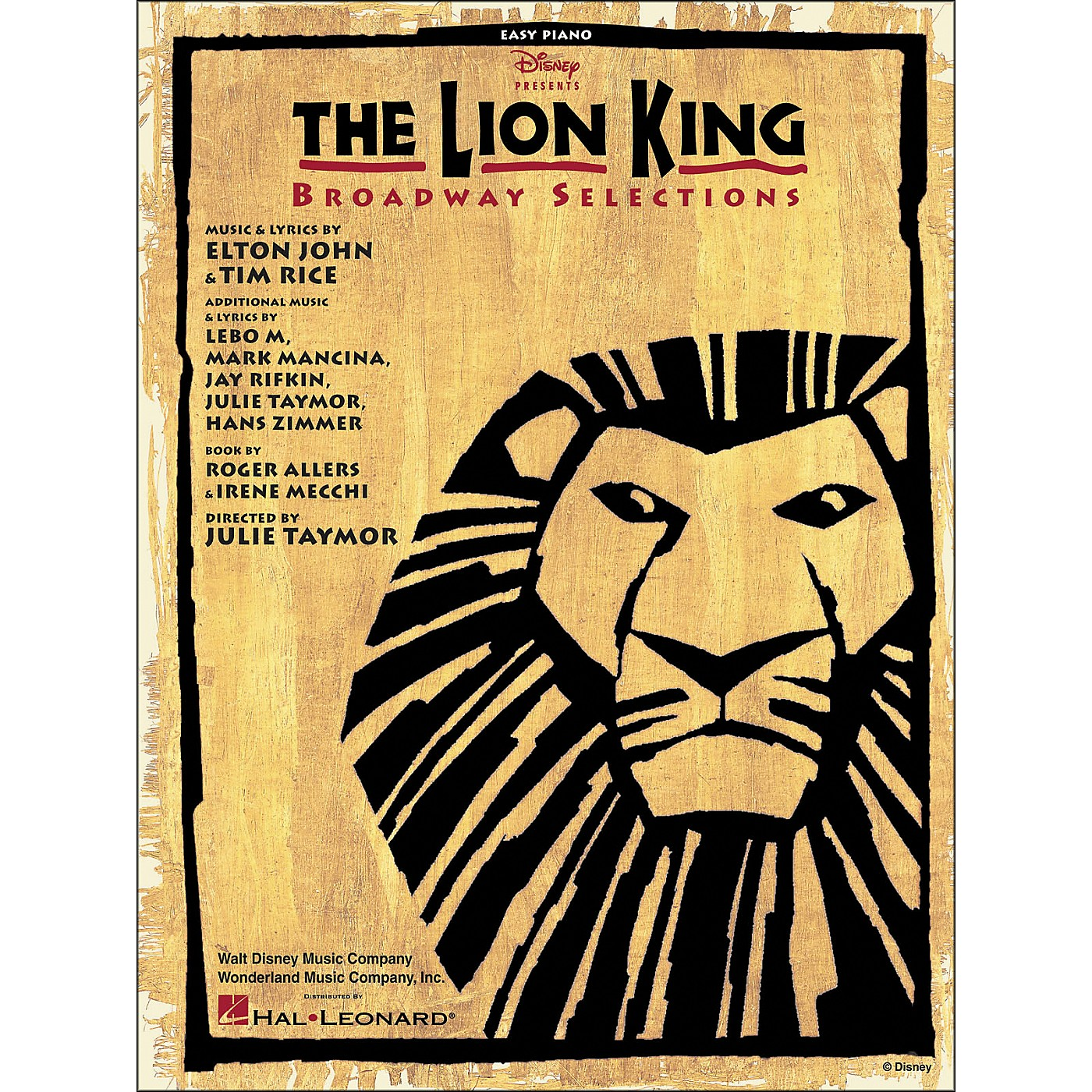 Hal Leonard Lion King Broadway Selections for Easy Piano thumbnail