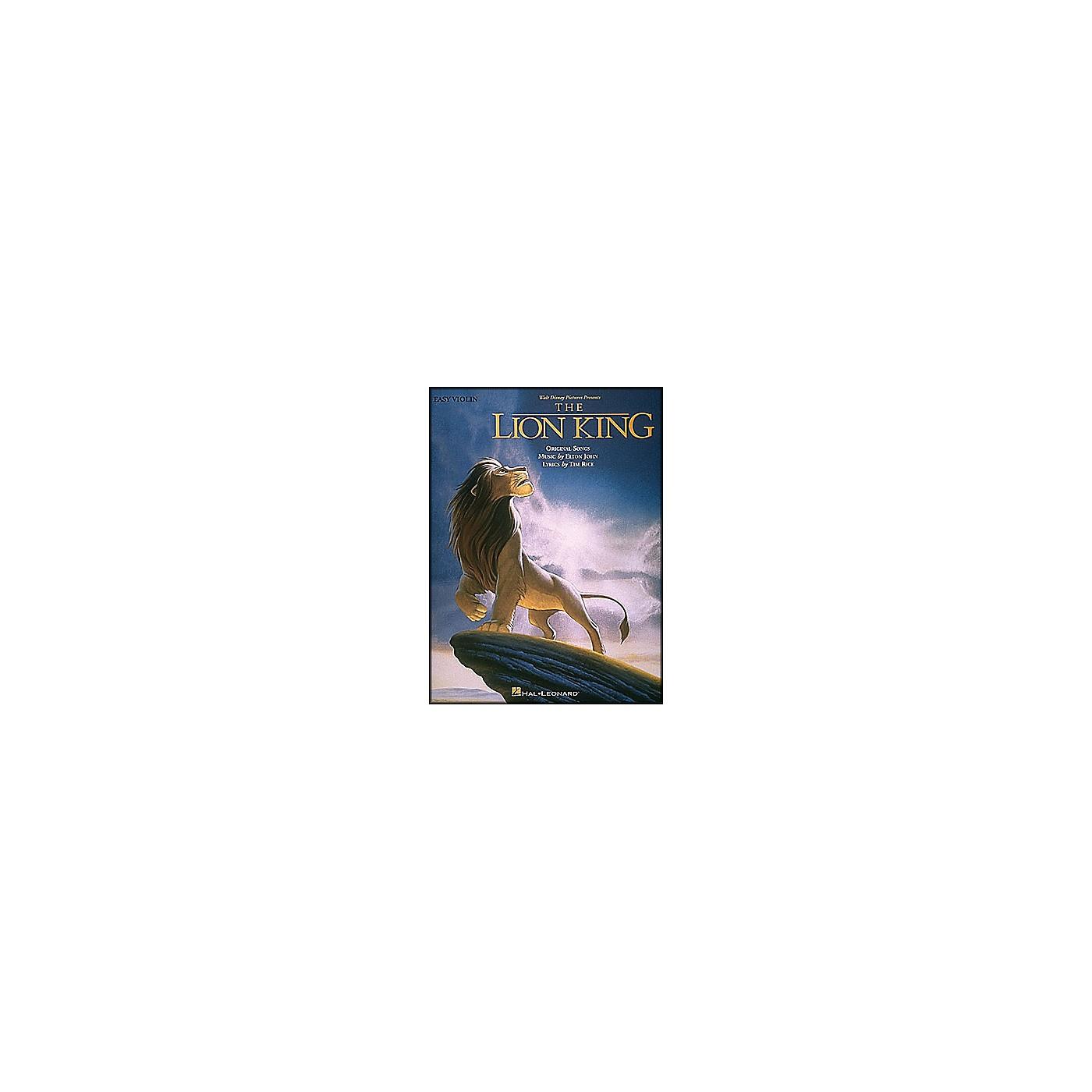 Hal Leonard Lion King for Easy Violin thumbnail