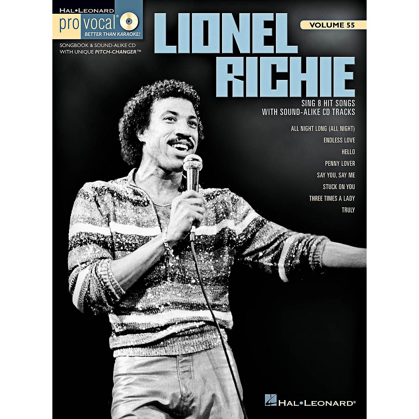 Hal Leonard Lionel Richie - Pro Vocal Men's Edition Volume 55 Book/CD thumbnail