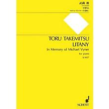 Schott Japan Litany (In Memory of Michael Vyner - for Piano) Schott Series
