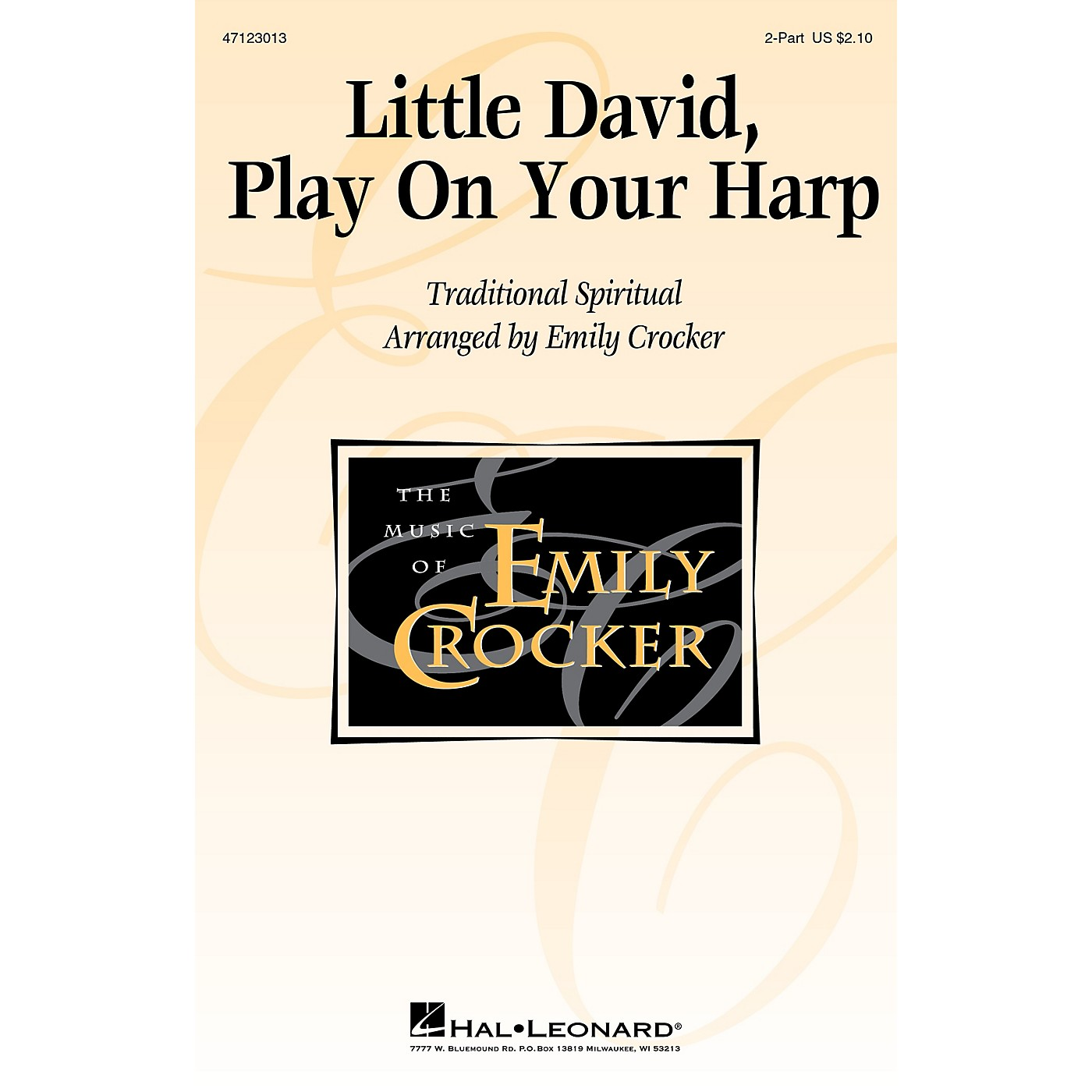 Hal Leonard Little David, Play on Your Harp 2-Part arranged by Emily Crocker thumbnail
